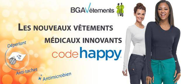 vêtements médicaux Code Happy