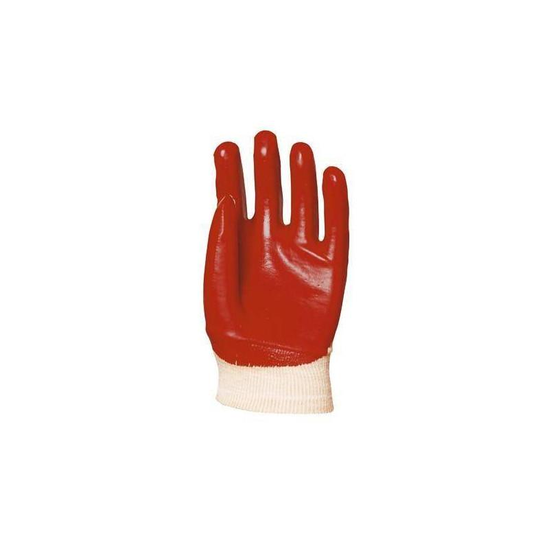 Lot 10 paires de gants rouge dos aéré, modèle standard