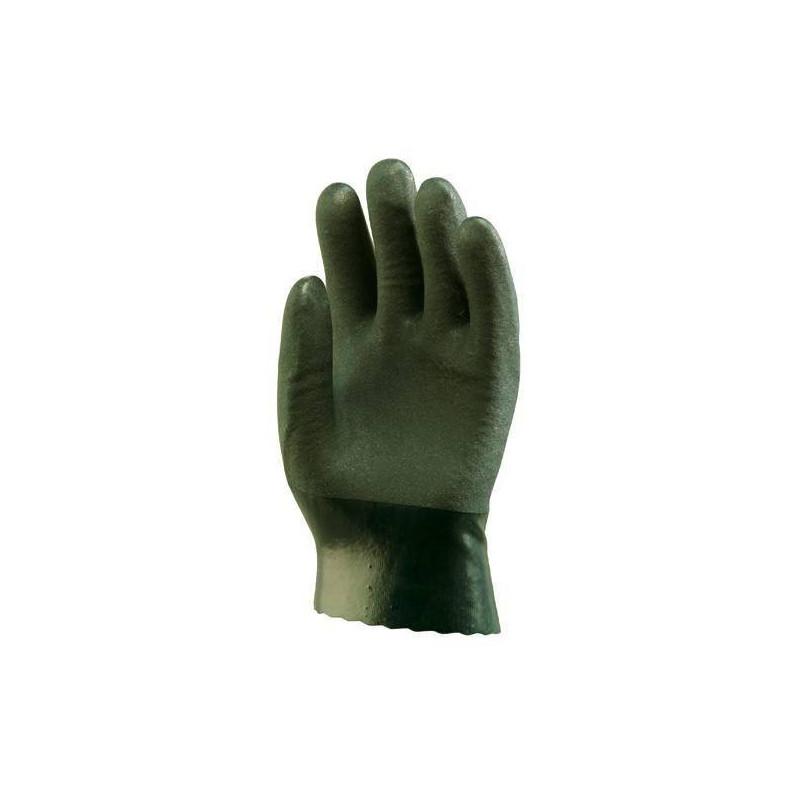 Lot 10 paires de gants polymère vert, 27 cm Actifresh, chimique