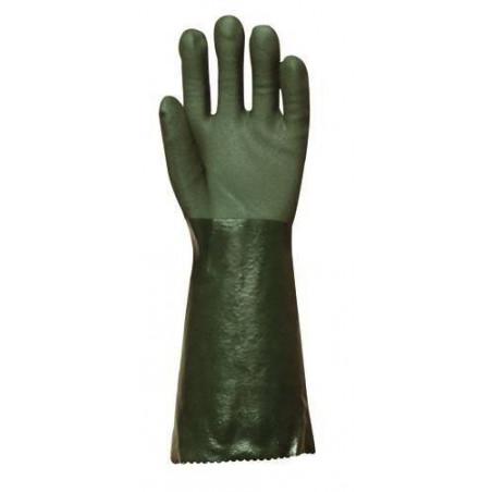 Gants polymère vert 40 cm (lot de 10 paires)
