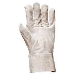 Lot 12 paires de gants tout croûte vachette manchette 7 cm