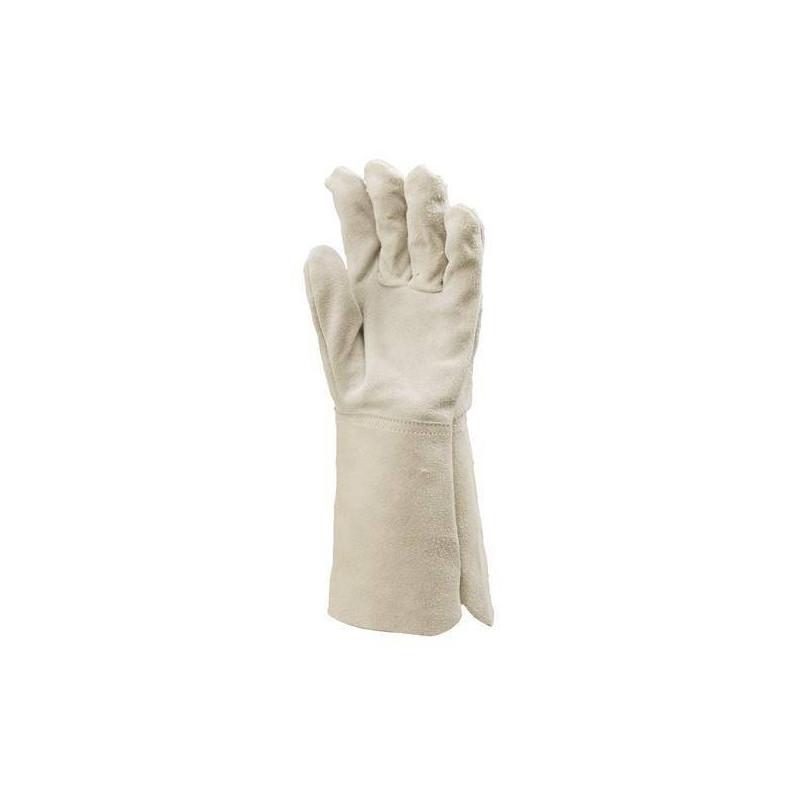 Lot 12 paires de gants tout croûte vachette manchette 15 cm, protège artère