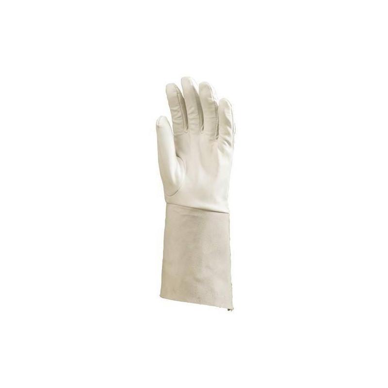 Lot 10 paires de gants agneau soudure argon, manchette croûte 15 cm