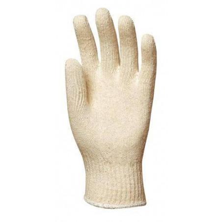 gants polyester / coton tricoté épais par lot de 10