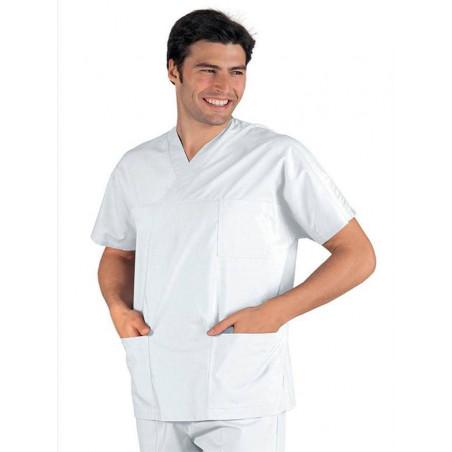 Tunique médicale coton COL V ATLANTA