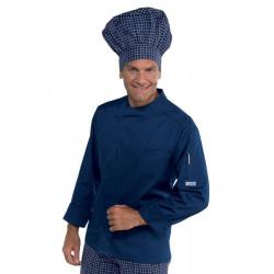 Veste de cuisine homme manches longues BILBAO Bleu