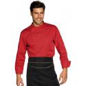 Veste de cuisine homme manches longues BILBAO Rouge
