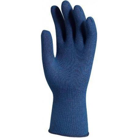 Lot 12 paires de gants Thermostat bleu tricoté anti-froid