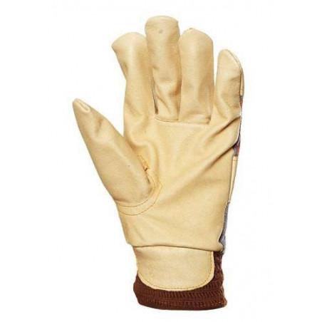 Lot 60 paires gants docker fleur porc, molletonné, poignet élastique 300