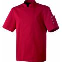 Veste de cuisinier mixte couleur NERO manches courtes ROBUR Bordeaux