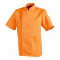 Veste de cuisinier mixte couleur NERO manches courtes ROBUR Melon