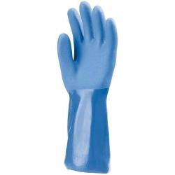 Lot 10 paires de gants PVC bleu, 35 cm