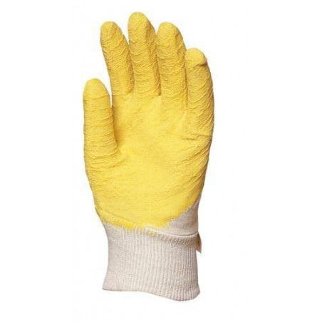 Lot 120 pièces gants latex crêpé jaune dos aéré