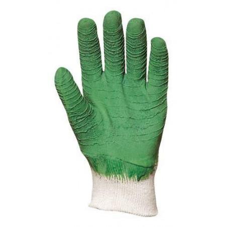Lot 12 paires de gants latex vert dos aéré standard