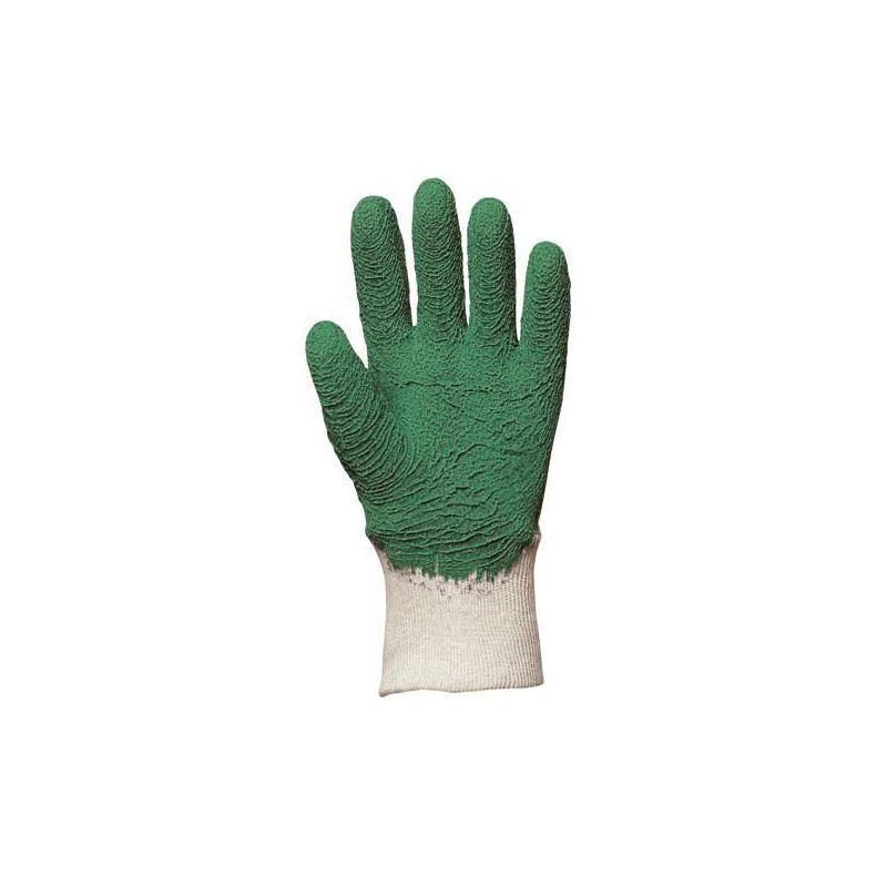 Lot 12 paires de gants latex jardin crêpé vert EUROTEHCNIQUE qual. sup.