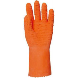 Lot 12 paires de gants latex crêpé orange 34 cm EUROTECHNIQUE