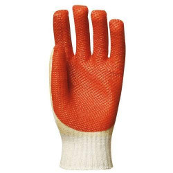 Lot 12 paires de gants vulcanisé rouge modèle économique