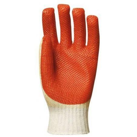 Lot 12 paires de gants latex vulcanisé rouge modèle économique