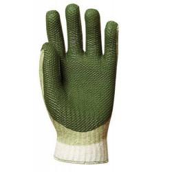 Lot 12 paires de gants tricoté enduit latex rouge éco
