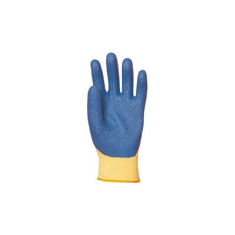 lot 12 paires de gants kevlar enduit latex bleu bga v tements. Black Bedroom Furniture Sets. Home Design Ideas