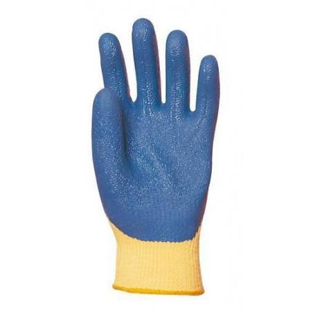 Lot 12 paires de gants Kevlar enduit latex bleu