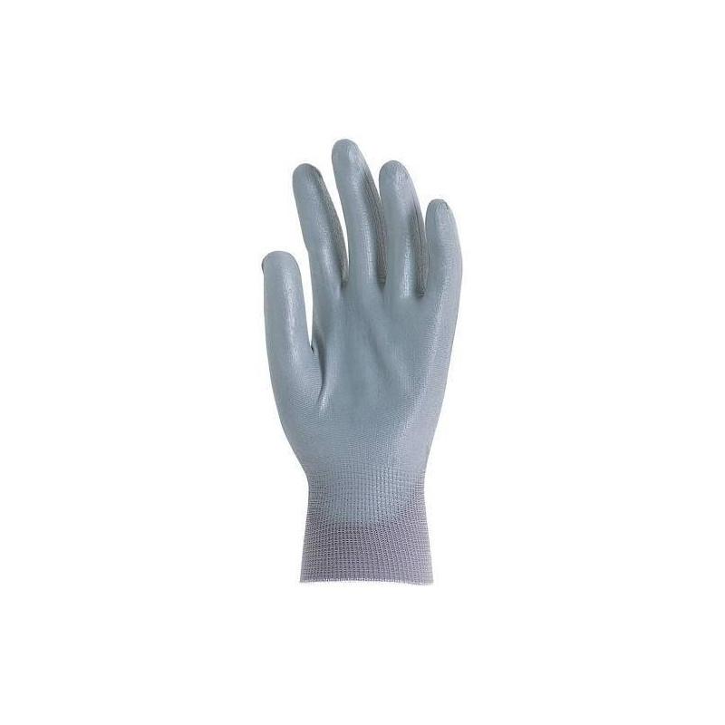 Lot 110 paires de gants polyamide gris, paume enduit polyuréthane gris