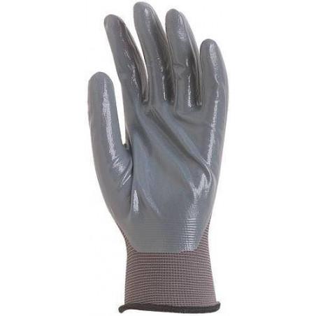 Paire de gants polyamide gris, paume enduit Nitrile gris LIVRAISON 24/48H