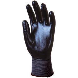 Lot 10 paires de gants polyam gris, enduit Nitrile noir dos aéré