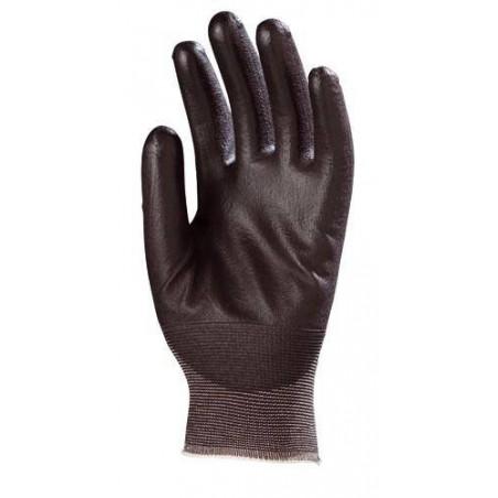 Lot 10 paires de gants EUROLIGHT Noir enduit PU noir