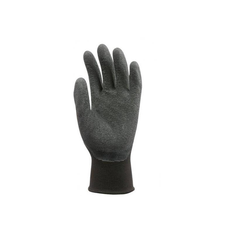 Lot 10 paires de gants nylon noir enduit latex noir