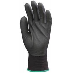 Lot 10 paires de gants Hydropellent TM polyester noir enduit mousse PVC noir