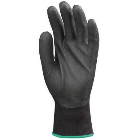 Lot 10 paires de gants Hydropellent polyester enduit mousse PVC noir