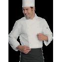 Veste de cuisine homme manches longues ROMA Blanc
