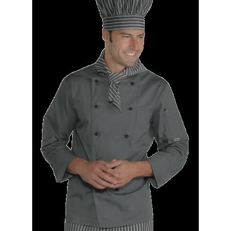 Veste de cuisine homme manches longues ROMA Grise