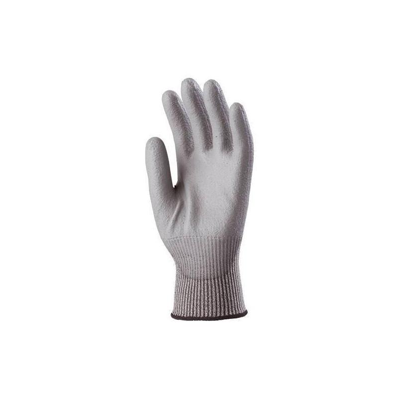 Lot 10 paires de gants multifibres 5 Paume enduit PU gris