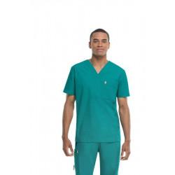 Tunique médicale homme CODE HAPPY vert 2