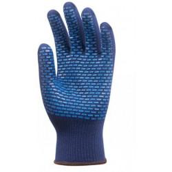 Lot 12 paires de gants Termostat anti-froid bleu picots PVC bleus