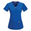 Tunique médicale femme manches courtes CODE HAPPY Bleu Royal