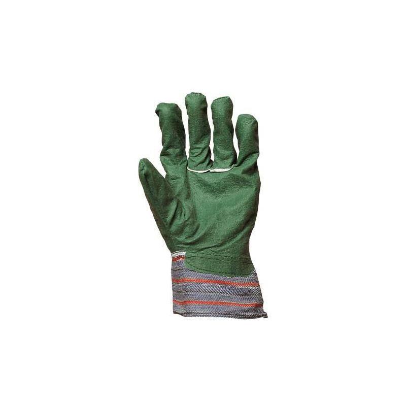 Lot 240 pièces gants docker coton vert enduit PVC
