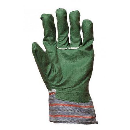 Lot 240 paires de gants coton vert enduit PVC 4120