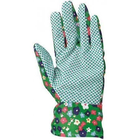 Lot 240 paires de gants jardin cueillette, toile coton, picots PVC