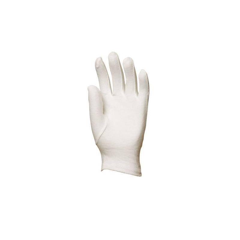 Lot 600 pièces gants coton jersey blanchi, fourchette