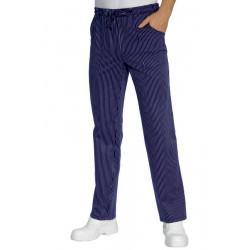 Pantalon de cuisine GABRIEL rayé bleu