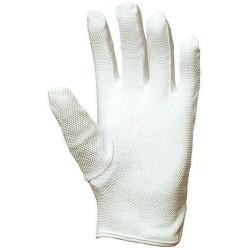 Lot 300 pièces gants coton coupe ville, mini-picots blancs