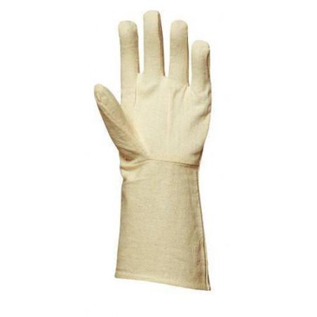 Lot 300 pièces gants toile coton croisé cousu manchette 15 cm
