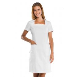 Blouse médicale femme manches courtes ABITINO Blanc
