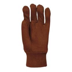 Lot 300 pièces gants coton cousu jersey gratté lourd marron