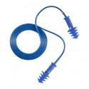 Bouchons antibruit bleu réutilisables, TPR cordon bleu (150 paires)