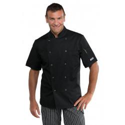 Veste de chef antitaches à manches courtes FRANCOFORTE