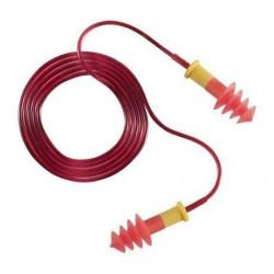 Bouchons antibruit réutilisables, TPR cordon rouge (150 paires)